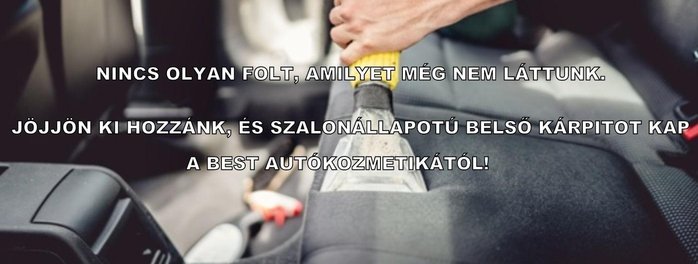 Autó kárpittisztítás Budapest - Best Autókozmetika Szalon